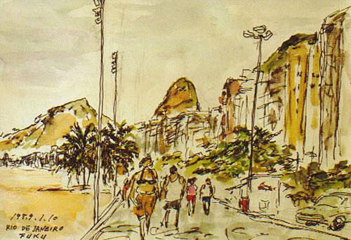 「リオ・デ・ジャネイロの海岸」/福並 郷子会員