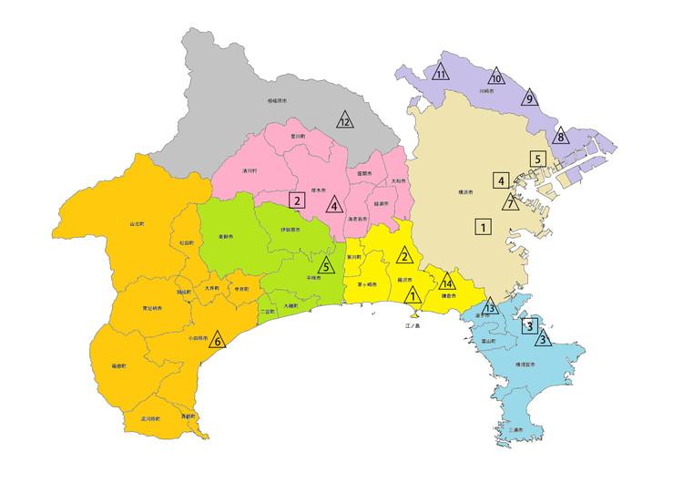 神奈川県における診療圏と二次・三次等医療機関の設置状況